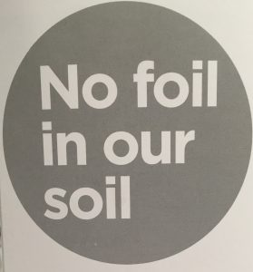 no foil in our soil